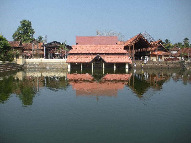 A large Ambalapuzha temple kulam (Pond), Alappuzha District, Kerala
